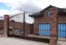 Усадьба Аносино / Ворота и забор, кованые металлические.