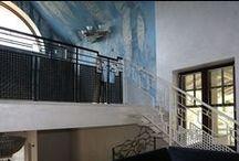 Кованый балкон-сетка.. / Контраст черного и белого цвета в рисунке. Interior Wrought Iron