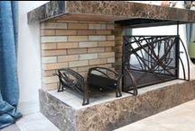 Оформление камина / Хотим представить Вашему вниманию еще один комплексный заказ на кованые изделия, выполненный нами этим летом.