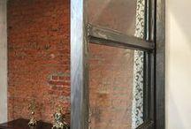 Раздвижные двери и перегородки / Изготовление и монтаж сварной лакированной перегородки с откатными дверями между демонстрационными залами. В ширму вставлены стекла. Xtile. Салон плитки Икстайл на ул. Гвоздева.