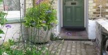 Front gardens / Front garden design, ideas for urban and country front gardens, gates, paths and storage.