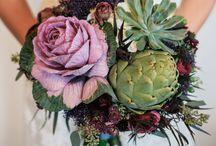 Rustic vegetable and flowers  Wedding ideas