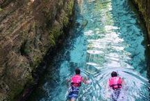 Underground Rivers / The underground rivers that run through this amazing theme park in Mexico are breathtaking natural wonders where you can swim and snorkel in Xcaret during your Riviera Maya vacation.