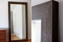 Accessories * Wall Mirrors / Wall mirrors; metal wall mirrors; wood wall mirrors; round wall mirrors; square wall mirrors; rectangular wall mirrors; decorating with mirrors / by J A N E T * S L A B O S Z - G R I G G S