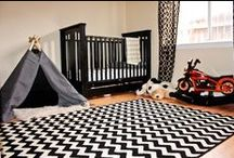 Boy Nursery Design / Let Him Sleep for When He Wakes He Will Move Mountains / Forest / Green, Blue, Brown / Rest / Play