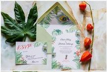 Wedding stationery / Save the dates and wedding invitations