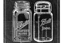Ball Mason Pint Quart Jelly Jars / by Mary O'Brien-Dennis