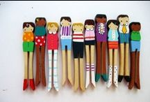 Clothespins...Cute & Cheap / Beyond the old-fashion game of Drop the Clothespin~ / by Susan Dominy
