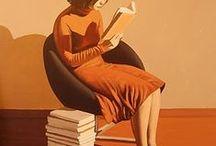 Libri dipinti / Tele, disegni, opere d'arte e il libro!