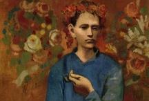 Pablo Picasso / Artworks by Spanish artist Pablo Picasso (1881-1073) Painter, draftsman, sculptor, printmaker, ceramist, stage designer, writer - Cubism, Surrealism.  / by Alejandro Fischer