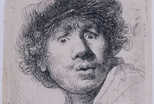 Rembrandt van Rijn / Artwork by Dutch painter and etcher Rembrandt Harmensz van Rijn (1606-1669) / by Alejandro Fischer