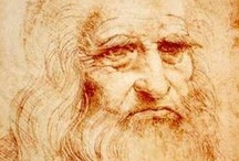 Leonardo da Vinci / Leonardo da Vinci (1452-1519) the archetype of the Renaissance man was a painter, sculptor, architect, musician, scientist, mathematician, engineer, inventor, anatomist, geologist, cartographer, botanist and writer. / by Alejandro Fischer