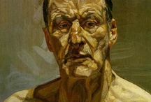Lucian Freud / Artworks by British expressionist and surrealist painter Lucian Michael Freud (1922-2011)  / by Alejandro Fischer