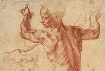 Michelangelo Buonarroti / Michelangelo di Lodovico Buonarroti Simoni (6 March 1475 – 18 February 1564),  / by Alejandro Fischer