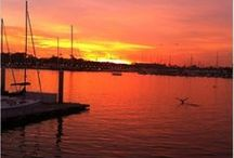 """A Sunset Spectacular / The Marina """"wows"""" with gorgeous sunsets just about any day of the year."""