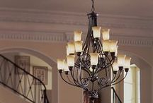 Chandeliers / Chandeliers make great accent pieces for many spaces.  From dining rooms, to bedrooms, to bathrooms, they are sure to make your home feel luxurious and relaxing