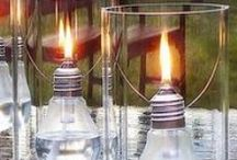 Reuse, Recycle, and Get Crafty! / It's time to recycle those energy-sucking incandescent light bulbs and start saving energy and money with LED lamps!  Here are some DIY ideas for reusing incandescent bulbs for much more efficient (and creative) purposes!