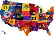 College football is coming! / This board contains pins promoting college teams located in our markets (OU, UT, BU, Tech) as well as pins of furniture that would fit perfectly in a sports room or lounge! Boomer Sooner! Hook e'm Horns! Go Bears! Wreck 'em Tech!