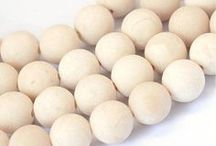 Natural Beads / Wood and coconut beads, gemstone beads, bone beads and more..