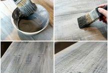 Refinish/distress wood or furniture