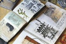 Artist journals, sketchbooks, designers workbooks, visual journals and travel diaries / Drawing, planning, sketching, illustrating, cutting and pasting, note taking - Allsorts of visual and design record keeping