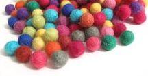 Wool felt balls / Wool felt balls and DIY ideas