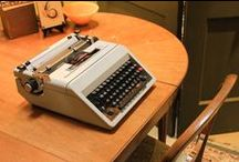 Type-In / Celebrate vintage typewriters with us at our 3rd annual Type-In on June 20th, 2015, 1-4 pm. Win a refurbished typewriter in the  typewriter raffle. All typewriters are 20% during the event.