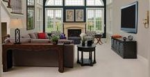 Enchanting Living Rooms / Stylish and inviting living spaces from Williamsburg Homes.