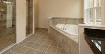 Luxurious Bathrooms / The elegant and relaxing master bathrooms from Williamsburg Homes.