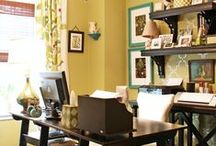 Office / Ideas that I want to incorporate into my office/craft room / by Amber Kirby