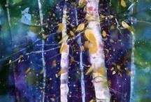 Tree Art | Bomen in de kunst / All kinds of trees in art | illustrations | sculptures ect.