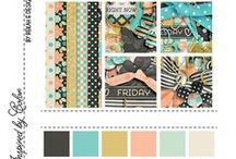 Color Palettes / Color inspiration boards created to get your creative juices flowing.