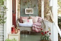 Porches & Outdoor spaces / I want to sit on a porch and watch the world stroll gently by.....