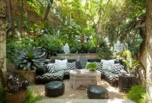 Home Architecture : When Nature Decorates / Backyard, Poolside, Garden. Outdoor designs and decoration.  / by Sarah Jane Rameau