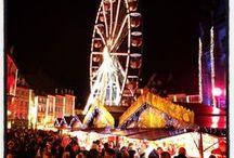 Marché de Noël / Le marché de Noël de Mulhouse est l'un des plus beaux en Alsace, avec sa décoration faite de tissu, créé spécialement pour l'occasion, et ses illuminations féériques.