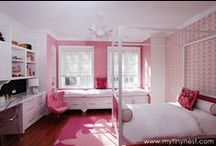 P I N K / Ideas for girls nurseries and big girl rooms all in pink, lots of pink.