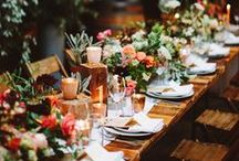 Tablescapes / Ideas for styling dinner tables