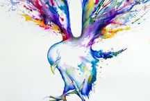 Watercolor Paintings / Get your art supplies at www.evergreenartsupply.com