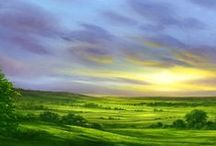Landscape Paintings / Get your art supplies at www.evergreenartsupply.com