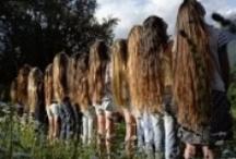 Long, beautiful, gleaming, steaming, flaxen, waxen... HAIR!! / by Julie Baumer