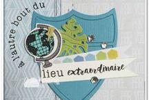 Carnet de voyage & Partir à l'aventure #4enSCRAP / Les créations de l'équipe créative