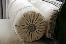 Pillows / Pillows add to a room's decor. Add lots! And have fun with designing them!