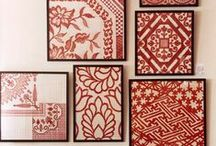 Fabric Wall Art / Fabric is a great medium for wall art! It's inexpensive and you can change it easily to match your decor or even the changing seasons.