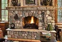 Fireplaces / What a great area to diplay your collectables or seasonal decor.