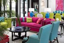 A Bold splash of COLOR! / Using bright colors in unexpected places in home decor.