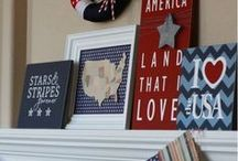 Fourth of July / Patriotic and red, white, and blue decorating.