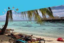 #MisionTahiti - El Salvador / La Curacao y sus clientes se fueron a conocer conocer de cerca Tahití y recolectaron estas bellas estampas de la belleza natural de la isla y del ambiente del Mundial de Beach Soccer FIFA 2013
