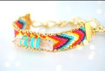 The Colors of Friendship! / Prism floss and craft thread projects for kids, friendship bracelets / by Commonthread by DMC