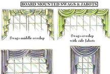 Swag Window Treatments / Swags for more formal room decor.