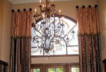 Two Story Window Treatments / Do you have double windows or really tall ones? Here's some ideas for window treatments.